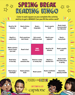 Picture of Spring Break Reading Bingo Card